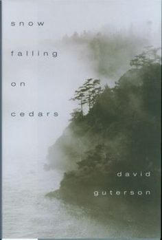 Snow falling on Cedars by David Guterson.  Guterson's novel is set on the San Piedro Island north of Puget Sound  in the 1950's. A local fisherman is found suspiciously drowned, and a Japanese American named Kabuo Miyamoto is charged with his murder. The author presents a multilayered courtroom drama set in the aftermath of the internment of Japanese Americans during WWII. He has created a work where you can smell, hear and see the fictional world, so palpable does the atmosphere come…