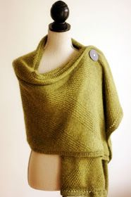 Luxurious olive green capelet | French Press Knits: My Legacy/Pattern Release