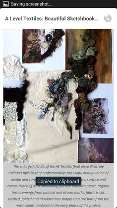 A level art textiles sketch book. A Level Textiles Sketchbook, Art Sketchbook, Embroidery Fashion, Embroidery Art, Garden Of Earthly Delights, Textiles Techniques, A Level Art, Sewing Art, Sketchbook Inspiration