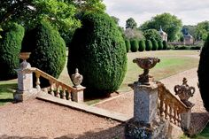 Les jardins de Montacute House (XVIe), Montacute, South Somerset, Angleterre, Royaume-Uni. |