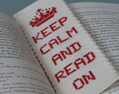 Cross Stitch Bookmark Pattern: Keep Calm And by stageappealcrafts