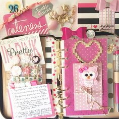 xoxo_rodhelen: What I love about my project #planner #listersgottalist #KateSpade #paperclips #kawaii #divider #dividers #dashboard #bow #agenda