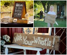 Classic Country Wedding Signs