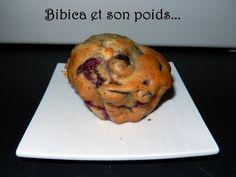 Muffins cerise et chocolat blanc {empreintes briochettes} gros plan
