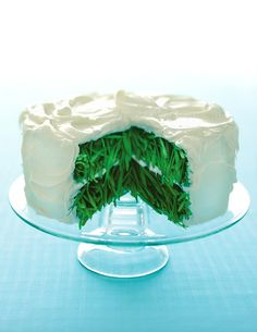 Grass Cake with Vanilla Frosting Fine Art Photograph Photo. $28.00, via Etsy.