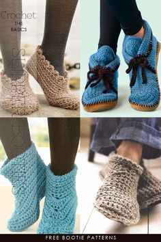 Slippers to knit, crochet, recycle - free patterns and tutorials by DiaryofaCreativeFanatic
