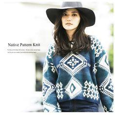 【楽天市場】【Native pattern knit】レディース ネイティブ柄 ニット:nostalgia