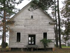Tattnall County GA Abandoned Old Country Church Rural Southern Photo Copyright Brian Brown Vanishing South Georgia