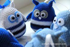 Crochet bird and owl free pattern Crochet Owl Applique, Crochet Box, Crochet Birds, Crochet Animals, Crochet Doilies, Crochet Flowers, Free Crochet, Knit Crochet, Amigurumi Patterns