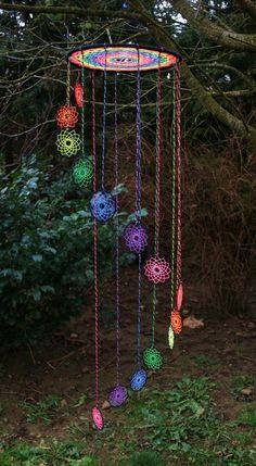 UV Spiral Dreamcatcher ~ https://www.etsy.com/shop/TijaxCreations NEW : ~ https://www.etsy.com/listing/201956999/spiral-dreamcatcher-mobile-large-pink?ref=shop_home_active_22: