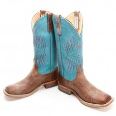 BootDaddy Men's Collection with Anderson Bean  Bulldozer Turquoise Cowboy Boots