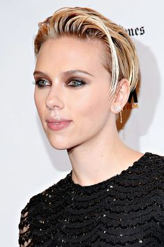 Scarlett Johansson has never looked fiercer thanks to the bevy of high-wattage highlights in her latest 'do. - MarieClaire.com