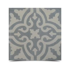 Argana Pack of 12 Grey-filled Handmade Cement and Granite Moroccan Tile (Morocco) - Overstock™ Shopping - Great Deals on Accent Pieces Bathroom Floor Tiles, Tile Floor, Wall Tile, Patio Wall, Grey Tiles, Handmade Tiles, Marble Floor, Mosaic Patterns, Grey And White
