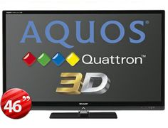 """Sharp 46"""" Multi-System 3-D QUATTRON LED TV LC-46LE830M - The Sharp LC-46LE830M is a Multi System LED TV beyond any other LED TV. Equipped with the world's first """"Quattron"""" and UV2A technology it has 4 primary color technology.It's Sharp's new UV2A technology X – Gen Panel. The Sharp LC-46LE830M also have new motion GUI for easy and comfortable operation. Works world wide in any country any voltage."""