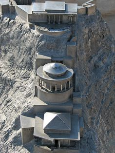 North Palace reconstruction of the Masada Fortress.