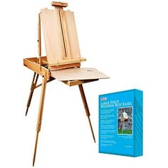 """US Art Supply Coronado French Style Easel & Sketchbox with 12"""" Drawer, Wooden Pallete & Shoulder Strap"""