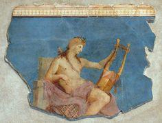 """""""Apollon citharède"""" - Fresque romaine du Ier siècle - Musée du Palatin."""