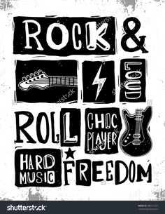 Rock and Roll sign. Slogan graphic for t shirt. Rock and Roll sign. Slogan graphic for t shirt. Rock And Roll Sign, El Rock And Roll, Rock Sign, Festival Logo, Festival Posters, Rock Posters, Film Posters, Foo Fighters, Desenhos Halloween