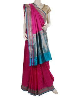 G3fashions Alluring magenta silk festive saree Product code: G3-WSA0960 Price: ₹ 9,045.00