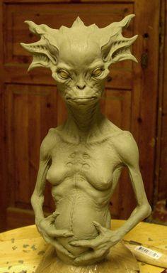 Female alien by BOULARIS.deviantart.com on @deviantART