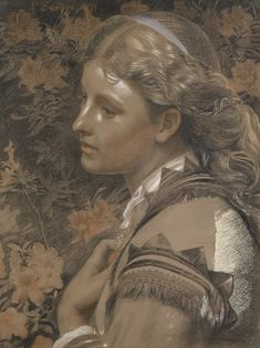 Victorian, Pre-Raphaelite British Impressionist Art - View Auction details, bid, buy and collect the various artworks at Sothebys Art Auction House. Brighton Museum, Colored Chalk, Colored Paper, John Everett Millais, Stone Gallery, British, Irish Art, Pre Raphaelite, Impressionist Art