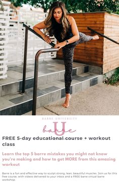 BarreU is a FREE 5-day educational series focused on one of my favorite workouts of all time: barre. In this course, I'll be sharing tips and tricks in daily quick videos, and cap it all off with a LIVE Zoom workout on Saturday, April 3 at 9am PST (noon EST). | Barre Workouts | The Fitnessista At Home Workouts For Women, Workout Routines For Women, Workout Schedule, Leg Routine, People Having Fun, Cheer Party, Barre Workouts, Body Workouts, Workout For Beginners