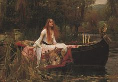 Lady of Shalott by John William Waterhouse - I want a gold framed print of this painting so badly!
