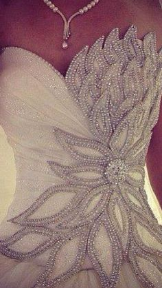 How beautiful is this? Glittering ball gown. #weddingdress /wedding-dresses