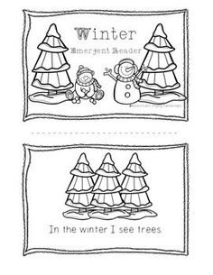 Winter Emergent Reader by Engaging Elementary Early Literacy, Kindergarten Activities, Classroom Activities, Kindergarten Christmas, Classroom Ideas, Winter Theme, Winter Fun, Snow Theme, Winter Ideas
