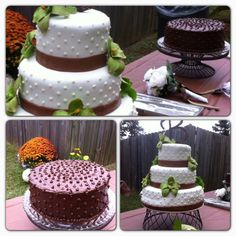 Rustic Wedding and Groom Cakes
