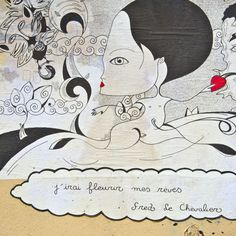 Art by Fred le Chevalier. Pic taken by littlebrownpen.com. Pick up a masterpieces at Montmartre.