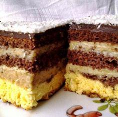 Érdekel a receptje? Kattints a képre! Hungarian Desserts, Hungarian Recipes, Cake Recipes, Dessert Recipes, Kolaci I Torte, Homemade Crackers, Sweet Cookies, Cake Bars, Creative Food