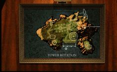 Myst - Tower rotation map