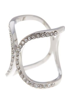 Open Pave Crystal Ring