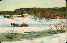 Julekort Kunstnerkort Fredrik Borgen Utg John Fredriksons forlag tidlig 1900-tall