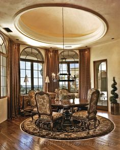 Image detail for -Discover creative custom window treatments for arched windows ...  Love the ceiling