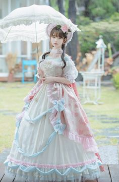omg isn't that Yurisa? Harajuku Fashion, Kawaii Fashion, Lolita Fashion, Cute Fashion, Asian Fashion, Rock Fashion, Fashion Boots, Frilly Dresses, Pretty Dresses
