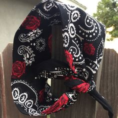 Dolly bow headband bandana style FREE SHIPPING in by ScarlettBows