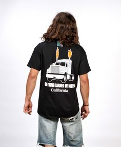 Flaming Truck – Enjoy Weed Shack Weed, Compliments, Truck, Mens Tops, T Shirt, Fashion, Supreme T Shirt, Moda, Tee Shirt
