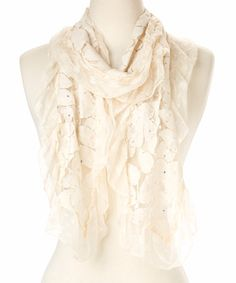 Look at this #zulilyfind! Caramel Floral Linen-Blend Scarf #zulilyfinds