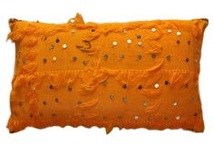 A World of Pillows - Moroccan Shawl 18x30 Pillow, Orange: Great Color!