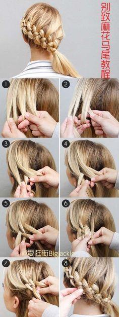 Four strand braid #idea #hair