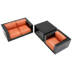 Massimo and Lella Vignelli- Sofa set for Poltranova Italy   From a unique collection of antique and modern sofas at http://www.1stdibs.com/furniture/seating/sofas/