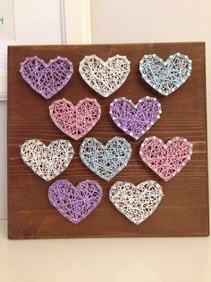 Heart String Art by JilliansGifts