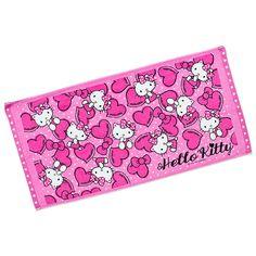 Hello Kitty Bath Towel Heart SANRIO JAPAN-01