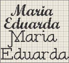 Resultado de imagem para www.nome maria eduarda turma da monica em ponto cruz toalhinha de bebe