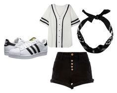 """""""Untitled #10"""" by abbykgirdler on Polyvore featuring adidas Originals, River Island and New Look"""