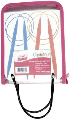 Crystalites Circular Knitting Needle Case-8-1/2 X6-1/2 X1-3/4