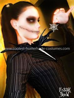 jack and sally face paint - Google Search | Jack and Sally Face ...