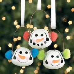 Jingle bell snowmen